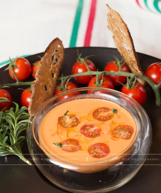 Gaspacho recipe with Azura round cherry tomatoes