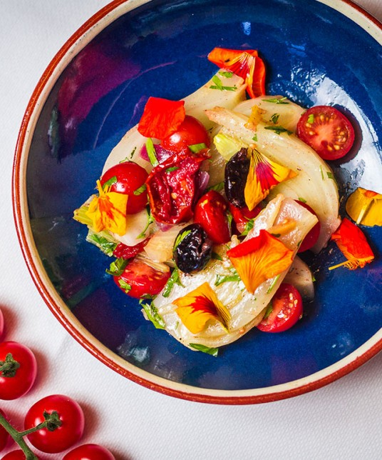 Fresh Azura Gourmet Fennel Salad with Candied Tomato